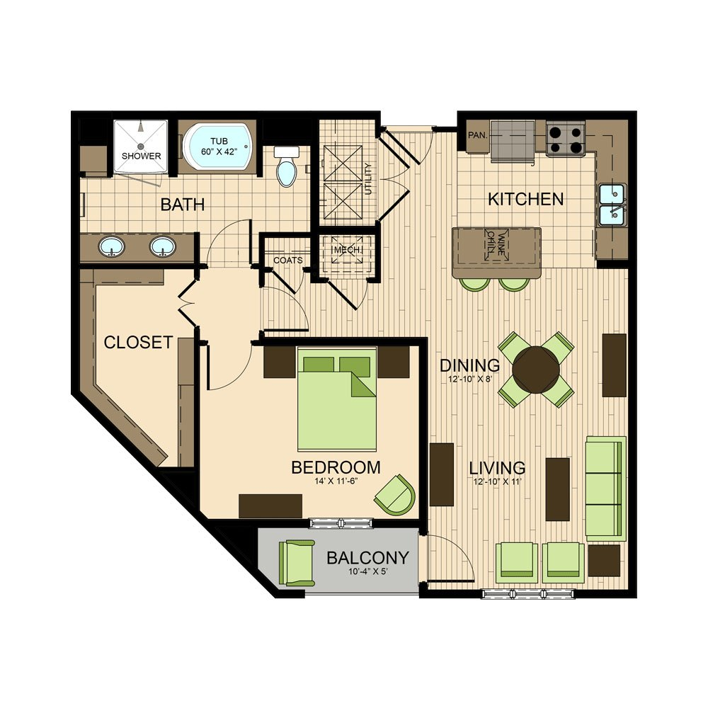 floor plan | The Susanne Montrose Apartments